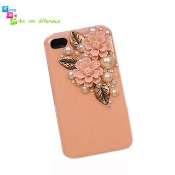 iPhone 4 & 4S mobile handmade hard case Copper retro by RoseNie 97104389