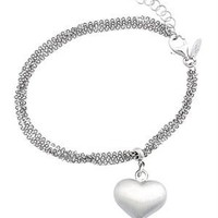 Greg Anthony Multi-Strand Heart Charm Bracelet Made In Italy - Jewelry for Her Under $69 - Modnique.com