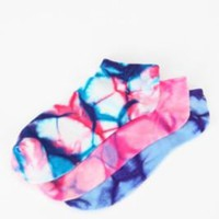 UrbanOutfitters.com > Tie-Dye No Show Sock - Set of 3