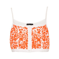 Button Front Floral Crop Top - Tops - Clothing - Topshop USA