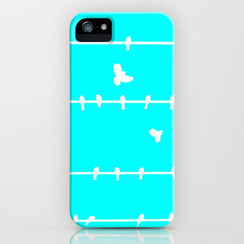 Birds On A Wire  iPhone & iPod Case by Bree Madden