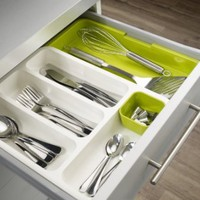 Joseph Joseph DrawerStore Expandable Cutlery Tray, Green:Amazon:Home & Kitchen