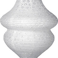 White 15 Inch Beehive-Shaped Eyelet Paper Lanterns