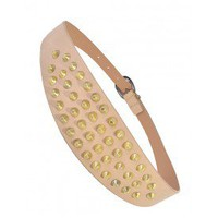 Beige Studded Belt