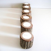 Babes in the Woods 6 Rustic Candle Holders by TheBentTreeGallery