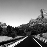 Arizona Highway, Black & White Print