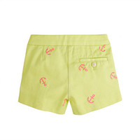 Ivory Navy Girls' Frankie short in embroidered anchor - patterns - Girl's shorts - J.Crew