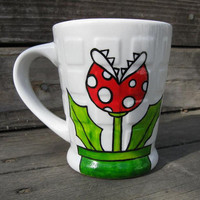 Piranha Plant Mug Super Mario Inspired by BugsAndMonsters on Etsy