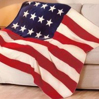 American Flag Patriotic Super Soft Fleece Throw Blanket 50x60