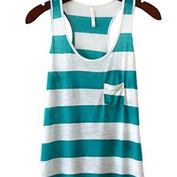 Welcome To Stripe Season Tank, Teal
