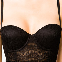 Cropped Eyelash Lace Corset
