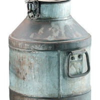 French Seaside Style & Beach Home Decor â?? Antique Iron Milk Can
