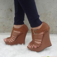 elegant Wedge heels high heels sandals Roman shoes