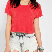 Truly Madly Deeply Cropped Mineral Wash Tee-
