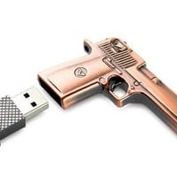 High Quality 8 GB Metal Gun USB Flash Memory Drive