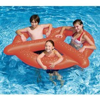 Giant Pretzel Inflatable Float Raft Swimming Pool Fun:Amazon:Patio, Lawn & Garden