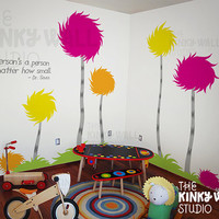 Children Wall Decals Wall Sticker - Lorax Truffula Trees Wall decal - Dr seuss 141