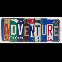 Funky ADVENTURE Word Block Custom Words by recycledartco on Etsy