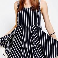 Urban Outfitters - Sparkle & Fade Stripe Drop-Waist Dress