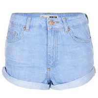 MOTO Blue High Waisted Hotpant