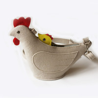 Felt Chicken Purse