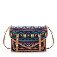 MULTICOLORED FABRIC MESSENGER BAG - Handbags - TRF - ZARA United States