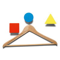 Bauhaus Hook - 3 coat-pegs Yellow, red & blue by Domestic