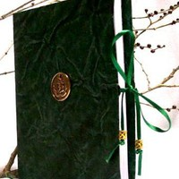 MJB5-Dark Green Mini-Journal Book | greggsgoodies - Paper/Books on ArtFire