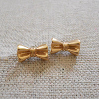 Lovely Bow Studs [3677] - $12.00 : Vintage Inspired Clothing & Affordable Summer Frocks, deloom | Modern. Vintage. Crafted.