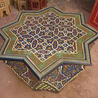 Moorish Blue Star Table | Star of Morocco