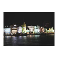 Willemstad Curacao at Night Canvas Print from Zazzle.com