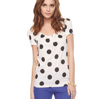 Dotted Bow Back Tee | FOREVER21 - 2000035912
