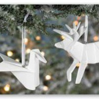 Porcelain Origami Ornaments