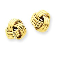 14k Ridged Love Knot Post Earrings