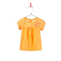 swiss dot t-shirt with appliqué flowers - T-shirts - Baby girl - Kids - ZARA United States