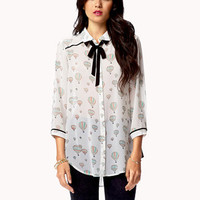 Hot Air Ballon Chiffon Shirt