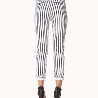 Striped Denim Trousers | FOREVER21 - 2040098209
