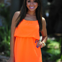 Stopping Traffic Dress: Neon Orange | Hope's