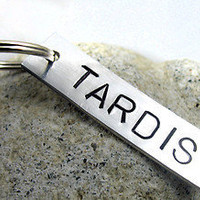 Tardis - Hand Stamped Aluminum Doctor Who Keychain | eBay