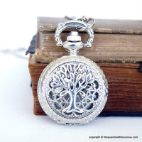 Tree of Life Pocket Watch Locket Necklace by QuaintandCurious