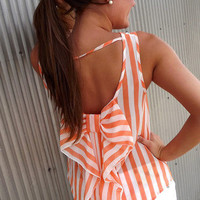 Orange Sherbet Bow Tank | The Rage