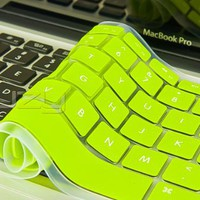 "Kuzy - Neon YELLOW Keyboard Silicone Cover Skin for MacBook / MacBook Pro 13"" 15"" 17"" Aluminum Unibody (fits MacBook with or w/out Retina Di"