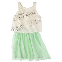D-Signed Girls' Tunic Dress - Honey Dew  XS