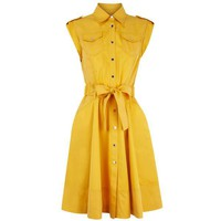 Bqueen Soft Safari Dress Yellow K409Y - Designer Shoes|Bqueenshoes.com