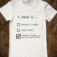 Concert Tickets.  - Forever Wild - Skreened T-shirts, Organic Shirts, Hoodies, Kids Tees, Baby One-Pieces and Tote Bags