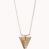 Cutout Triangle Necklace