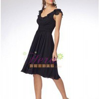 Popular Cap Sleeve Chiffon Bridesmaid Dress