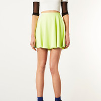 Fluro Mini Skater Skirt - Skirts - Clothing - Topshop USA