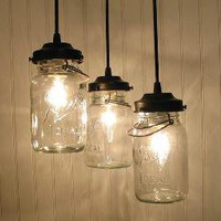 Vintage Canning Jar CHANDELIER Created NEW by LampGoods on Etsy