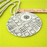 That's No moon Death Star Necklace - Spiffing Jewelry